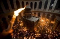 Easter in Jerusalem at the Holy Sepulcher.