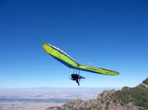 Hang Gliding is an extreme sport and is for thrill seekers only. It takes lots of practice before attempting to glide over mountains.