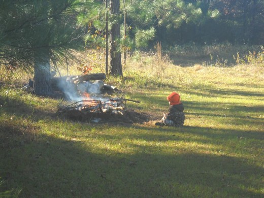 Campfires and deer hunting go hand in hand.