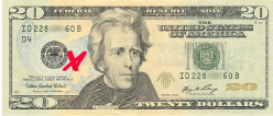If I mark a 20 dollar bill, what are the chances that I will at least handle it again in 10 years?