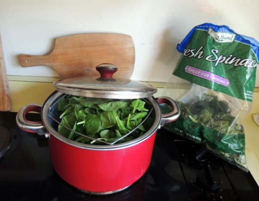 steam your spinach