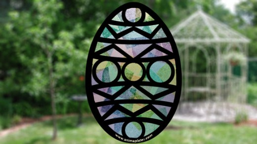 Hang your stained glass Easter Egg in front of a window