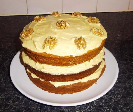 Coffee and walnut cake, my favourite.