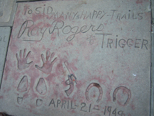Roy Roger's and Trigger's footprints at Grauman's Chinese Theater