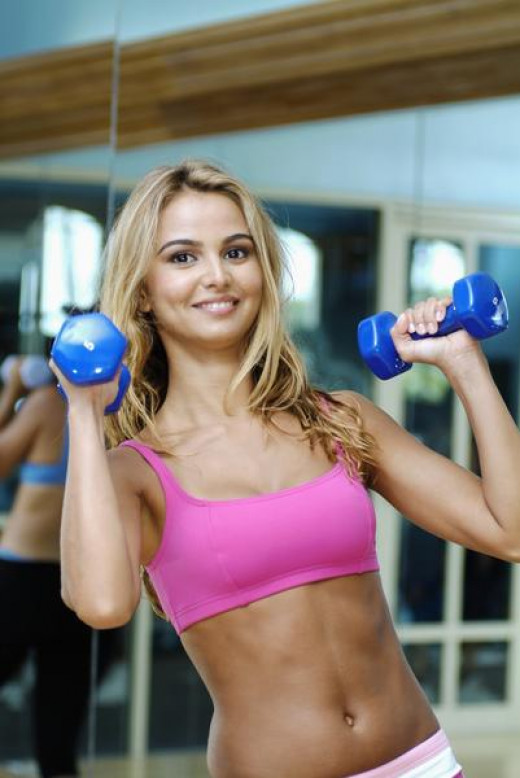 Exercises using the dumb bells