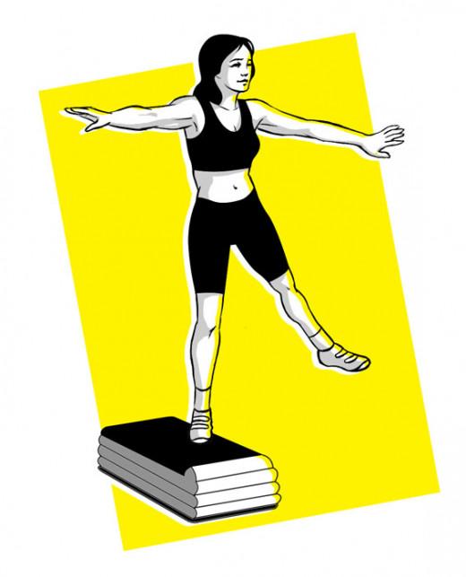 Step aerobic exercises