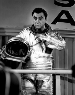 Bill Dana performed his astronaut routine often in the 1960s on variety shows and other programs on TV. Visit http://www.bill-dana.com/pages/news.html
