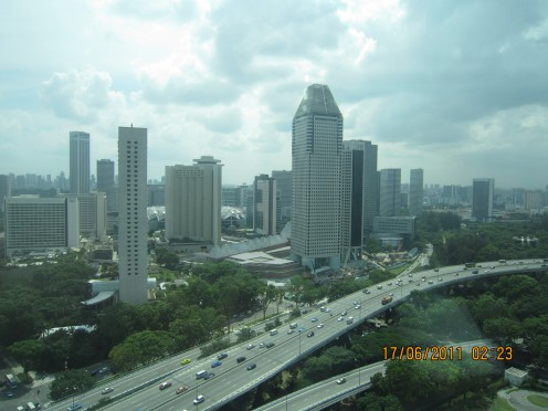 View of from Singapore Flyer