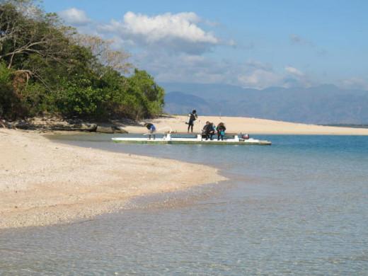 The white sands of Pandan Island, Sablayan, Occidental Mindoro