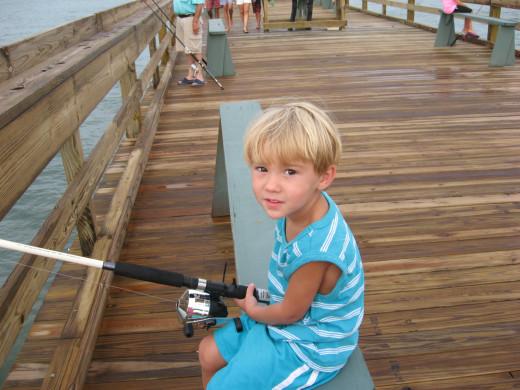 Most of my grandkids love fishing.