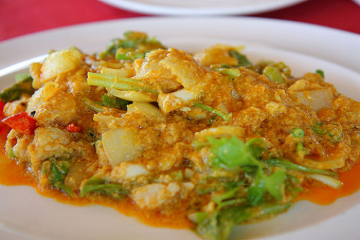 A Light Crab Curry