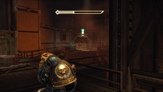 After clearing the forge of enemies, this door will be marked with an objective icon. Look to the left a bit and...