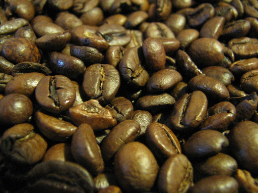 Coffee beans that provide the ever-so-lovely aroma and flavor of coffee.