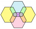 Hexagon Shape Counting Puzzle: How many hexagons can you find in the diagram below?