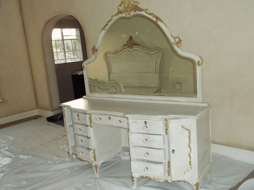 A lovely vanity which can also be used as a dresser.