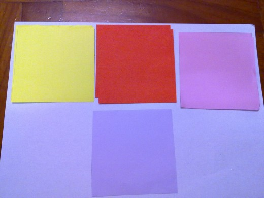 different color construction papers- choose the color you like
