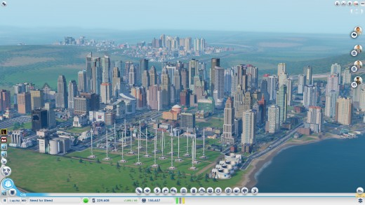 Overview of my best city (Yes I use Munchkin Ex packs as names). Notice the city in the background? Yeah that's one of mine, those things get updated as they expand in real time, which is pretty cool.