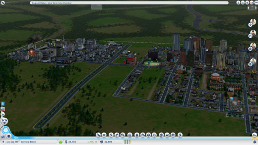 Overview of my second and in progress city.
