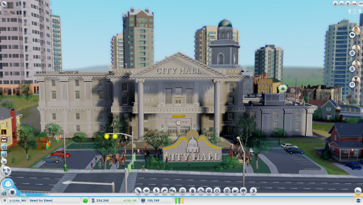 The City Hall, This is the one thing you will have to share responsibility with everyone else, as it costs 500 simoleons a department.
