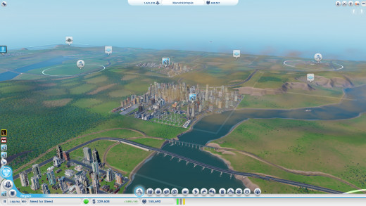 Region view, you'll be here a lot when you're dealing with resources and sharing and stuff.