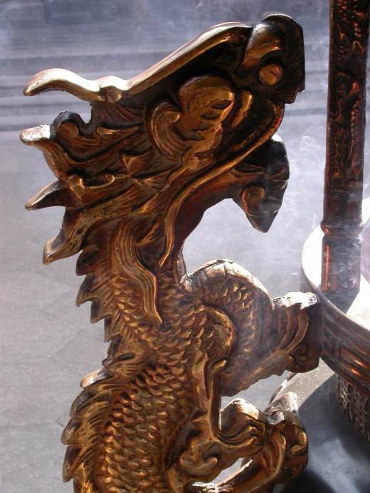 Dragon as temple guardian.