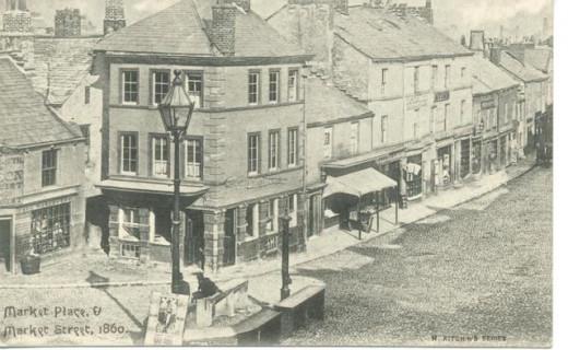 Ulverston  Market place 1860