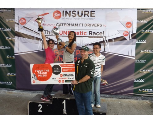 Peter Miller and the TUNEtastic winners on the mini podium! :D