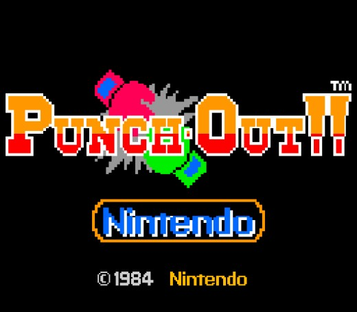 The simple yet effective menu screen for Punch Out