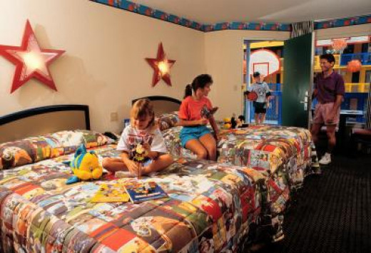 The Disney All Star Sports Resort rooms are great for the whole family.