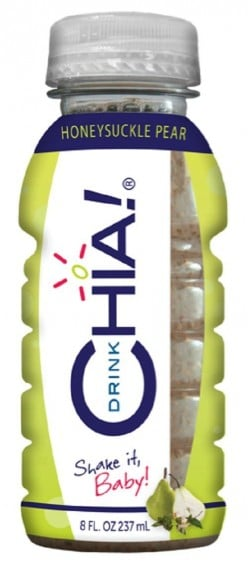 This honeysuckle and pear flavor Chia drink is rich in Omega 3 and B vitamins, but low in calories!