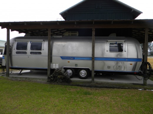 Consider a motor home or a trailer, large or small.