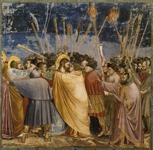 Giotto's Kiss of Judas.
