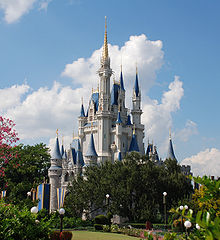 Magic Kingdom Cinderella Castle. Magic Kingdom opened October 1, 1971