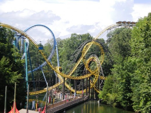 Reviews of Roller Coasters at Busch Gardens in Williamsburg VA