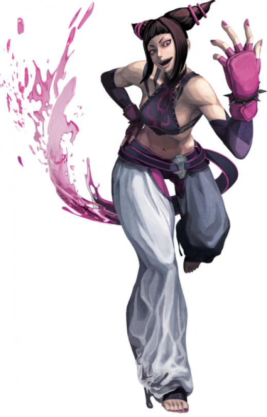 Juri Han, the Shadaloo agent, makes her debut to the series
