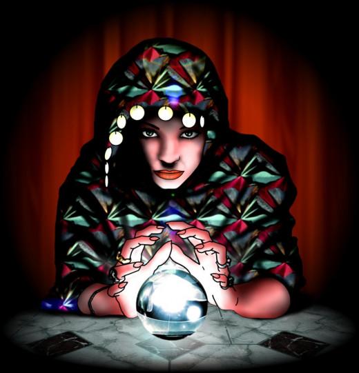 """Title of art is called """"A Vidente"""" or the Seer by Esleiro. Link at http://esleiro.deviantart.com/art/A-Vidente-173800877"""