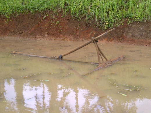 A traditional farming rake which is still commonly used.