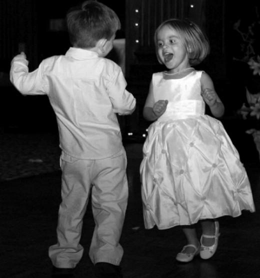 Kids love music and dancing.