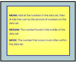 Calculating Mean, Median, Mode