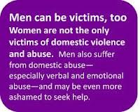 Women aren't the only victims of domestic abuse.
