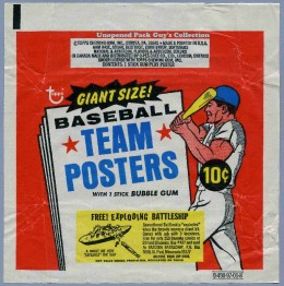 1969 Topps BB Team Posters Wrapper
