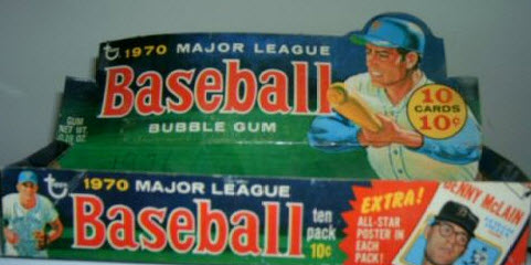 1970 Topps BB Regular Issue with Poster Insert Advertisement
