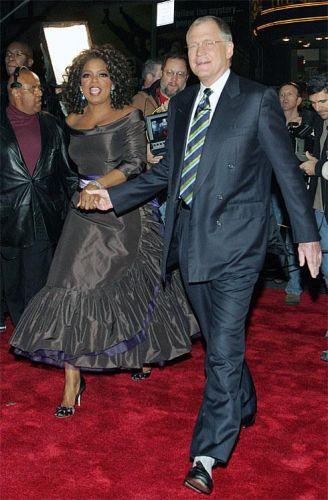 Oprah and David Letterman