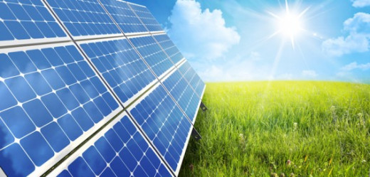 Solar panels harness energy from the sun and convert it to electricity
