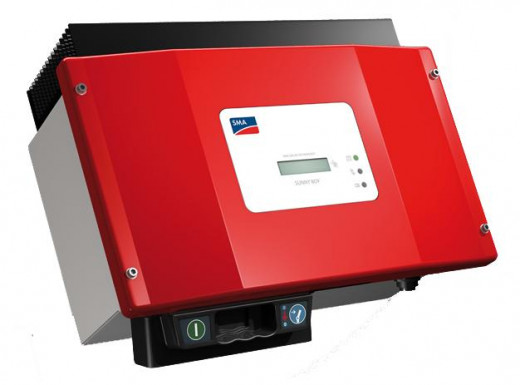 A popular inverter model, produced by the German company SMA. Inverter converts DC voltage from solar arrays into AC voltage, suitable for home appliances.