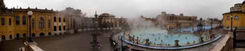 Széchenyi Bath is a popular choice of those wanting to relax in the hot thermal pools and also for the chess players