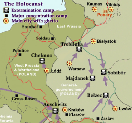 All six of the camps that were set up specifically for extermination were located in Poland.