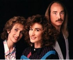 2nd Chapter Of Acts in 1985 (from left); Nelly Greisen, Annie Herring, and Matthew Ward.