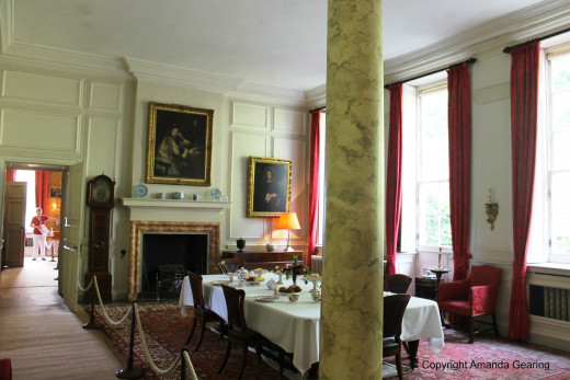 The dining room, Dyrham Park, Bath, England