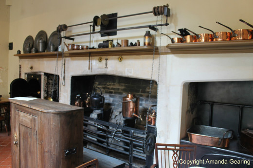 The fireplace and machinery, Dyrham Park, Bath.
